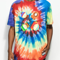 HUF x South Park Trippy Tie Dye T-Shirt | Zumiez