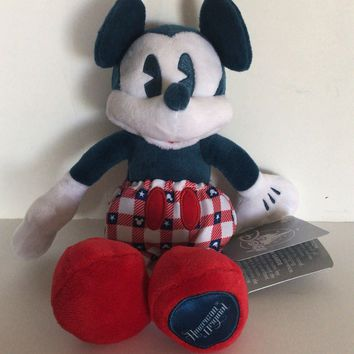 Disney Parks 9inc Mickey Mouse Americana Plush New with Tags