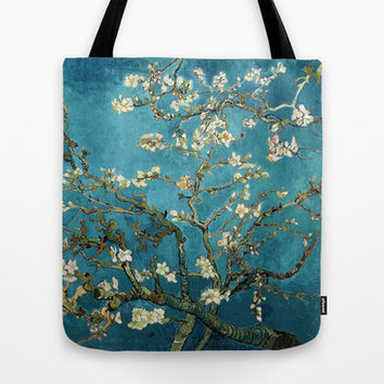 Blossoming Almond Tree, Vincent van Gogh. Tote Bag by ArtsCollection