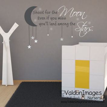 Shoot For The Moon Wall Decal Nursery Decor