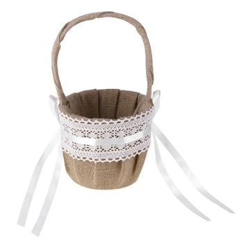 Wedding Vintage Flower Basket Burlap
