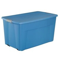 Sterilite, 45-gal. Wheeled Latching Storage Tote in Lapis Blue, 19481004 at The Home Depot - Mobile