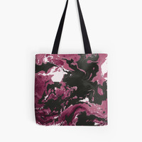 'Purple and black marble texture.' Tote Bag by kakapostudio