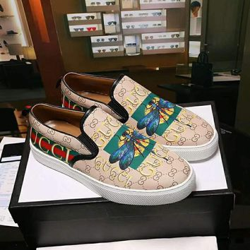 GUCCI 2018 men's and women's tide brand counter high quality casual shoes F-A36H-MY