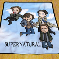 "Supernatural Cute Soft High Quality Blanket 58"" x 80"" Exclusive Design"