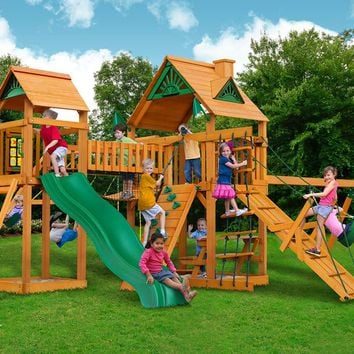 Gorilla Playsets Pioneer Peak Wooden Swing Set