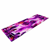 "Ebi Emporium ""White Noise 3"" Purple Magenta Yoga Mat"