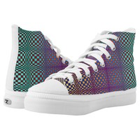 Abstract Squares 3 High-Top Sneakers