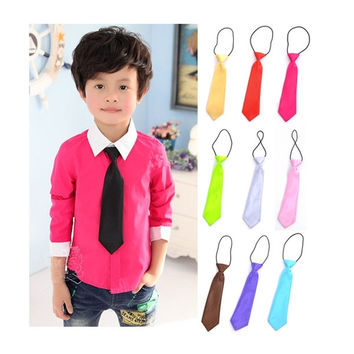 Boys Kids Children School Baby Wedding Colour Elastic New Tie Necktie = 1932513348