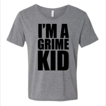i am a crime kid - WIDE NECK TEE
