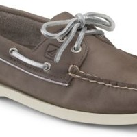 Sperry Top-Sider Authentic Original Metallic Piping 2-Eye Boat Shoe Greige/Silver, Size 7M  Women's Shoes