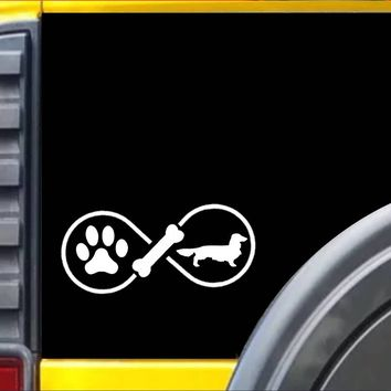 Longhaired Dachshund Infinity Decal Sticker *J420*