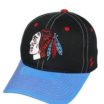 Chicago Blackhawks Staple Chicago Colors Adjustable Hat By Zephyr