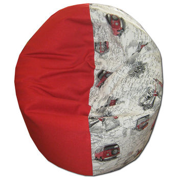 Beanbag chair, bean bag for adult,, Route66 -red, VW minibus