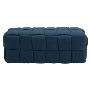Modern Decor Navy Bench Fabric Basketweave Coffee Table | Free Shipping