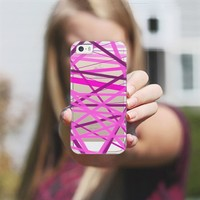 Razzle Dazzle Lines - Transparent/Clear Background iPhone 5s case by Lisa Argyropoulos | Casetagram