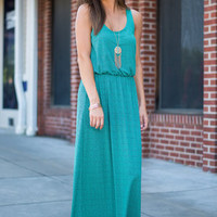 Effortless Design Maxi Dress, Emerald