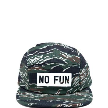 No Fun 5 Panel Hat - Camo