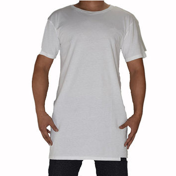 Longline T-Shirt With AK47 Picture