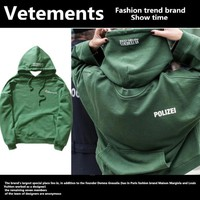 Vetements Tide brand loose on both sides to wear hooded sweater wild retroize oversize hoodies