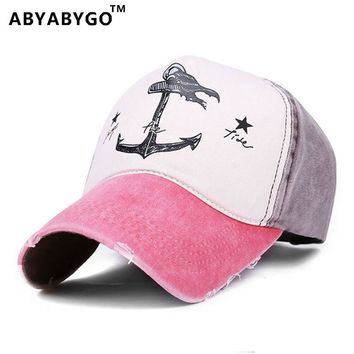 ABYABYGO Snapback Casquette Baseball Cap Women Pirate Anchors Summer Baseball Cap Casual Sunscreen Mens Hip Hop Adjustable Hat