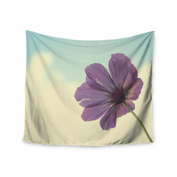 "Beth Engel ""Torn But Never Broken"" Purple Flower Wall Tapestry"