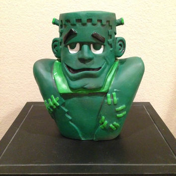 Frankenstein Light Up Blow Mold Halloween Decor- Vintage
