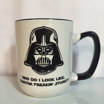 Star Wars funny Darth Vader mug Dartha Stuart gift for mom amazing cook inspiring dad homemaker extraordinaire