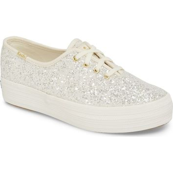 Keds® for kate spade new york triple decker glitter sneaker (Women) | Nordstrom