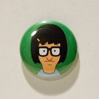 "Tina Belcher from Bob's Burgers 1"" Pinback Button"