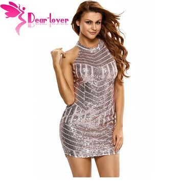 Sparkling Sequin Tank Mini Party Dress