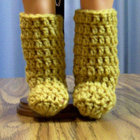 18 Inch Doll Boots, Crochet, Handmade, Doll Shoes, Doll Accessories, Crochet Doll Shoes, Doll Clothes, American, Winter Boots, Girl Gift