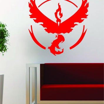 Pokemon Go Team Valor Logo Game Gamer Design Decal Sticker Wall Vinyl Art Decor Home