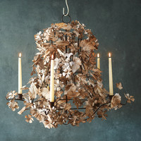 Pressed Metal Flower Chandelier