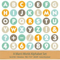Man Digital Alphabet Download Fathers Day Letters Numbers Clipart Father Dad Grandpa Digital Scrapbook Alphabet Letters Gentleman Symbols