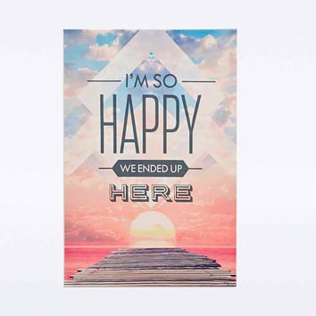 Happy Canvas Wall Art - Urban Outfitters