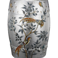 Bird & Branch Ceramic Stool