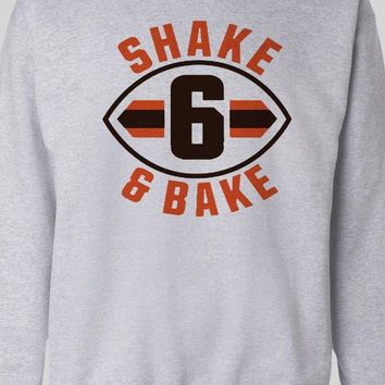 "CLEVELAND BROWN'S BAKER MAYFIELD ""SHAKE AND BAKE"" SWEATER"