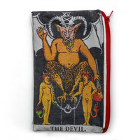 THE DEVIL Tarot Card Makeup Bag / Pencil Pouch