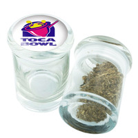 Stash Jar - Glass Pop Top - Toca Bowl - Stay Fresh Herbs 1/6 oz.
