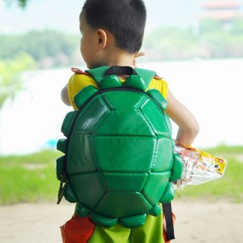 2017 Fashion Backpack for Kids,soft PU school bags for teenagers Mutant Ninja Turtle mochila,ninja turtle backpack