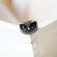 New Arrival Simple Fashion Style Owl Pattern Finger Ring (SILVER) China Wholesale - Sammydress.com
