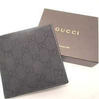 Gucci Guccisima GG logo Men's wallet with coin pocket NEW FULL SIZE 150413
