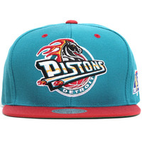 Detroit Pistons NBA 50th Anniversary Snapback Hat Teal