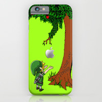 Link Zelda with an apple tree iPhone 4 4s 5 5c, ipod, ipad, pillow case tshirt and mugs iPhone & iPod Case by Three Second