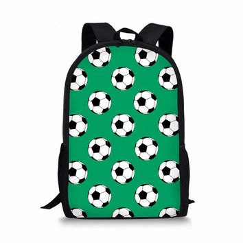 Boys bookbag trendy FORUDESIGNS Newest Design Footballs School Bags For Primary Satchel Soccers High capacity Book Bag For Children Mochilas  AT_51_3