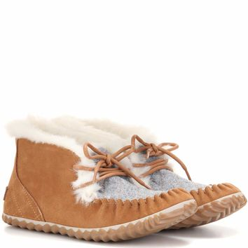 Out N About suede moccasins