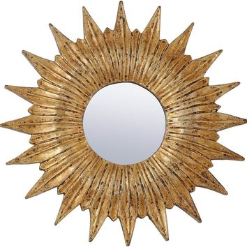 Mini Sunburst Mirror - Gold
