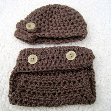 Diaper Cover and Hat Diaper Cover Newsboy Hat by Monarchdancer