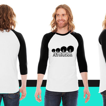 Afro Afrolution American Apparel Unisex 3/4 Sleeve T-Shirt